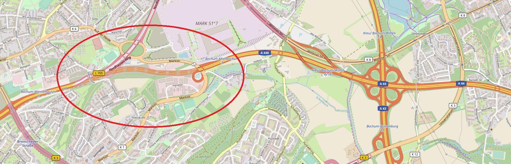 Opelspange in Bochum